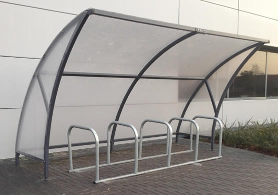 Milan cycle shelter bike shelter
