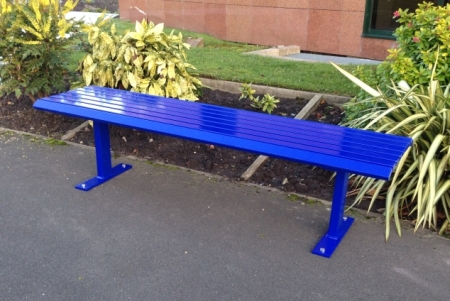 Napoli Mild steel seat bench steel seating