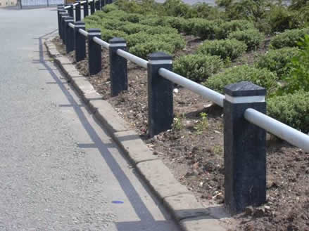 Recycled post and rail system railing
