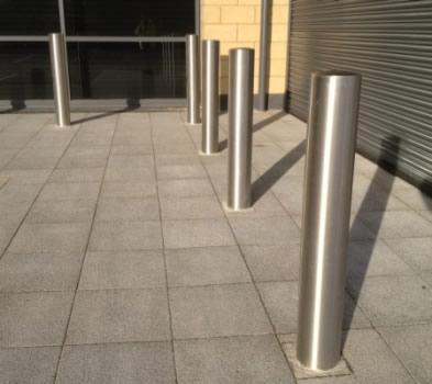 Stainless steel bollard security post steel