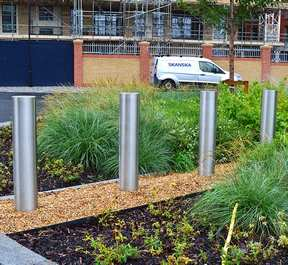 Stainless steel bollards steel security posts - barricade
