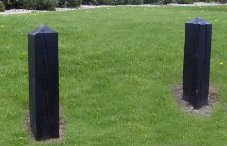 Black timber bollards new