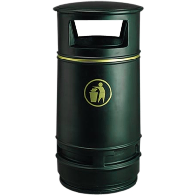 Atlanta litter bin black - Barricade Ltd