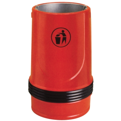 Boston litter bin red polyethylene