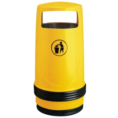 Miami litter bin yellow polyethylene