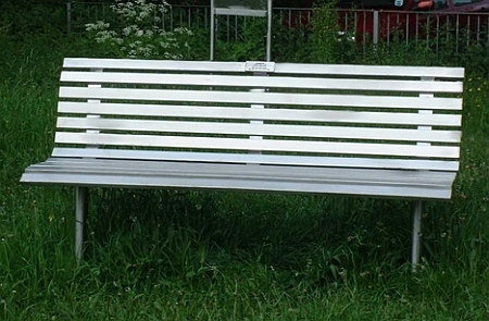 Stainless steel bench PARIS