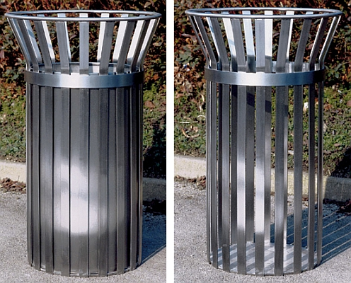 Stockholm Stainless steel litter trash bin - Barricade Ltd